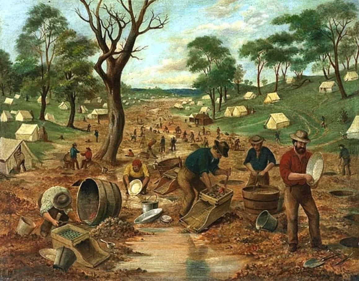 Guldgravere i Australien