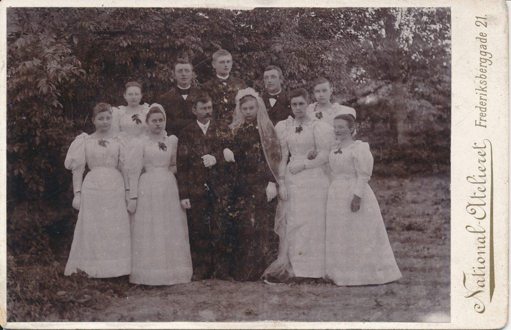 Hans Peder Hansens bryllup med Cecilie Andersen